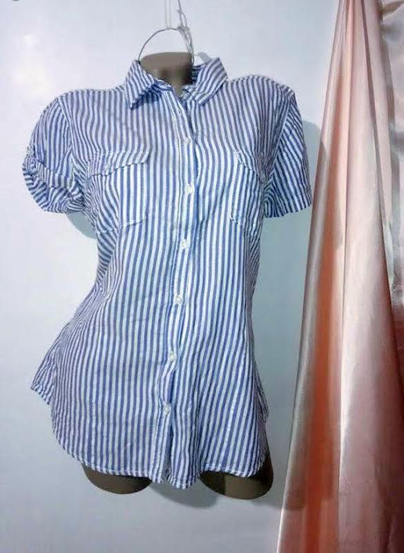 Рубашка из натуральной ткани. h&m .*размер xl