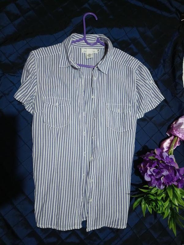 Рубашка из натуральной ткани h&m