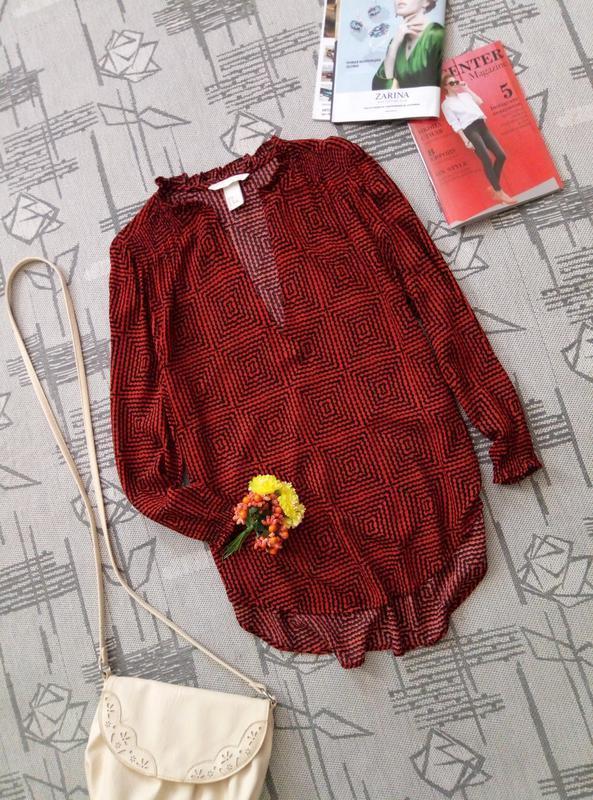 Красивая блуза геометрический принт h&m