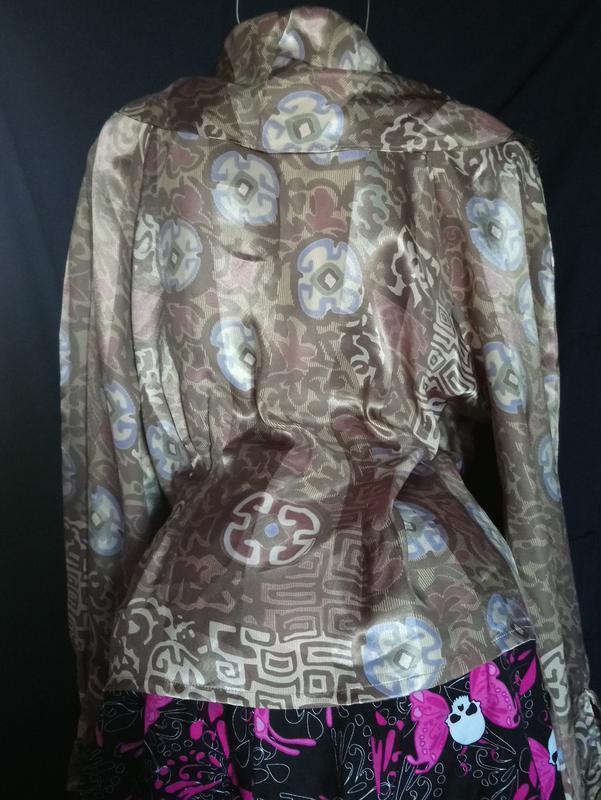 Жакет-блуза баска с атласным переливом,очень красивая./ aport/ - Фото 2