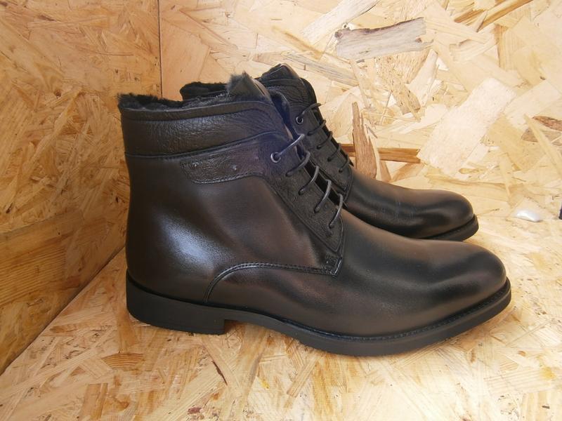 Ботинки мужские высокие классика шнурки кожа