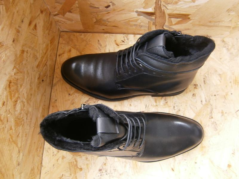 Ботинки мужские высокие классика шнурки кожа - Фото 3