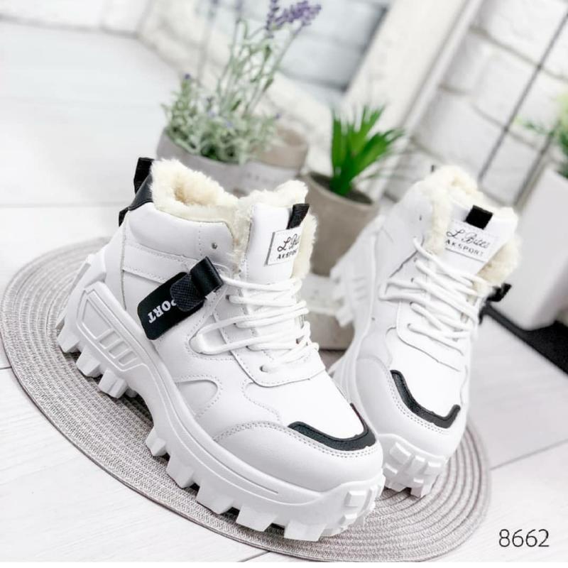 Теплые высокие кроссовки евро зима женские ботинки зима толста...
