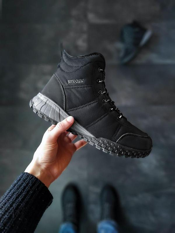 Тёплые мужские зимние ботинки/ сапоги на меху 😍 (не бренд)