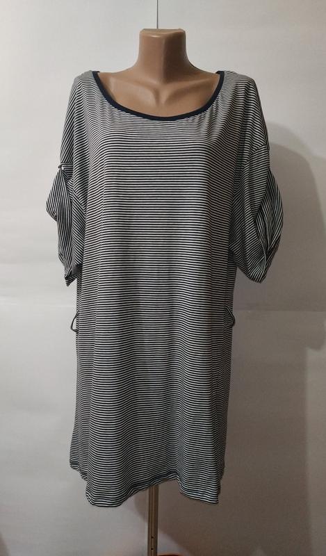 Туника платье хлопковое в полоску большой размер denim co uk 1...