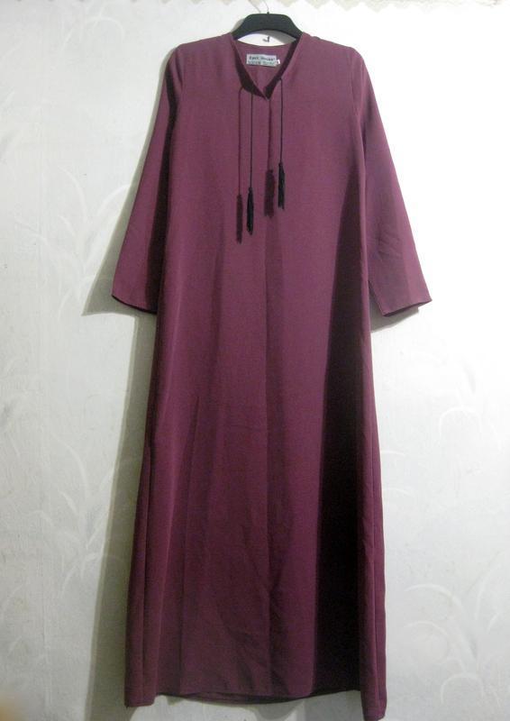 Абая east house иордания длинное платье туника бордо сиреневая...