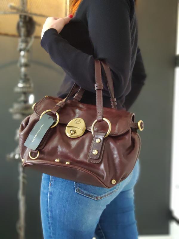 Francesco biasia 100% оригинальная кожаная сумка.
