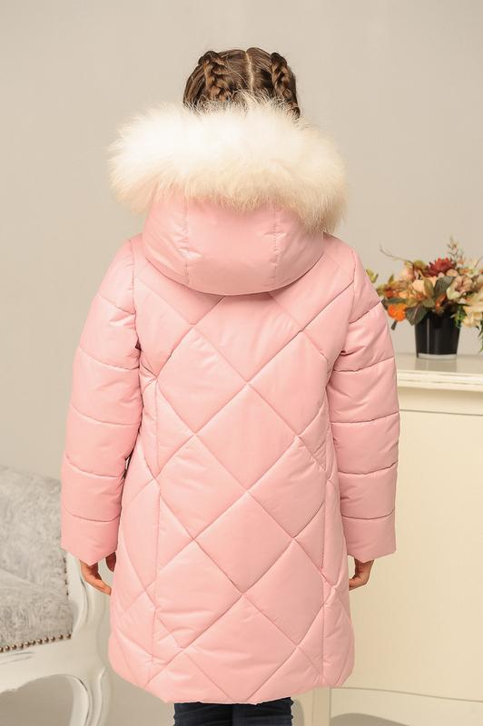 Размер 32-42 Стильный зимний пуховик на девочку - Фото 2