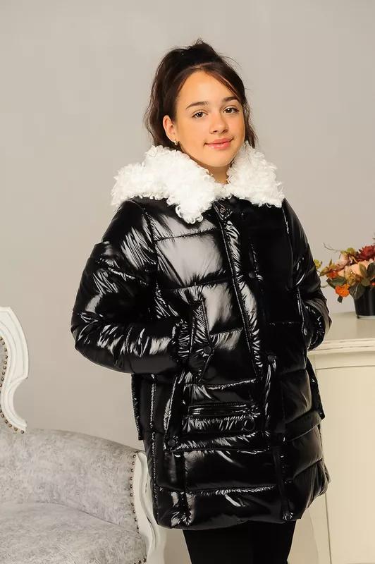 Размер 36-44 Стильный зимний пуховик на девочку