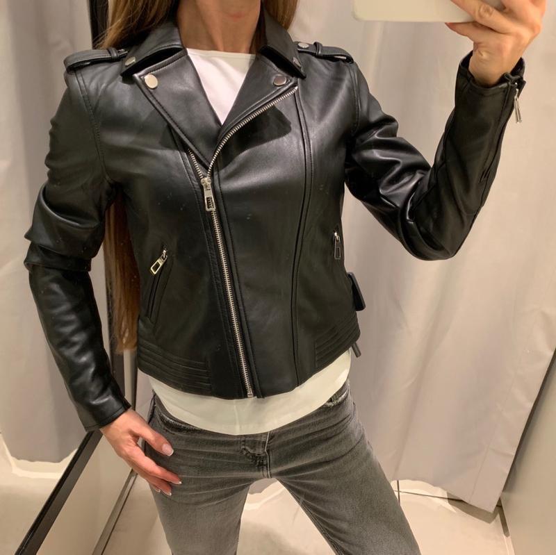 Качественная куртка кожанка косуха reserved есть размеры