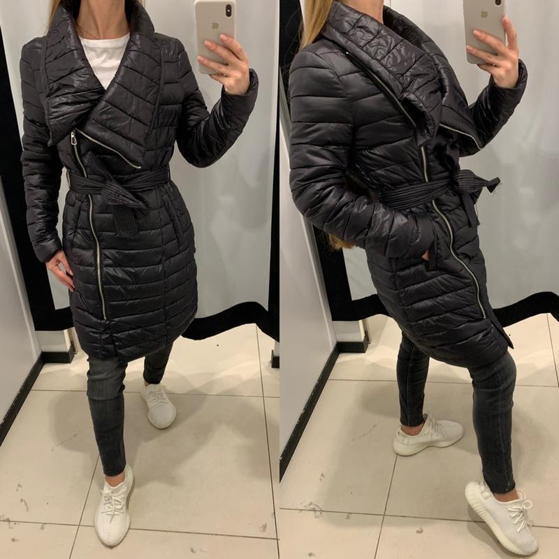Чёрное пальто куртка демисезон mohito есть размеры