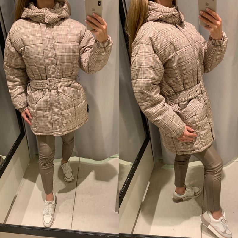 Стильная теплая куртка в клетку курточка reserved есть размеры