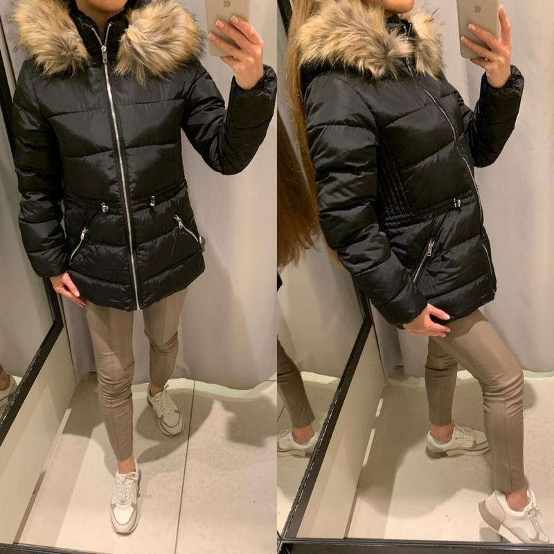 Теплая чёрная куртка курточка reserved есть размеры
