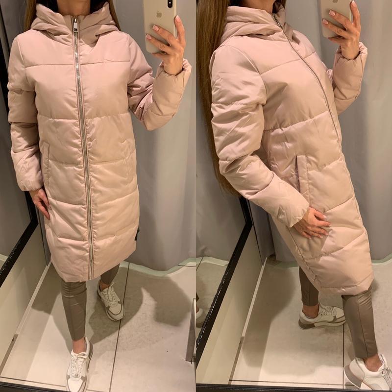 Нежно розовое пальто с меховым капюшоном куртка reserved есть ...