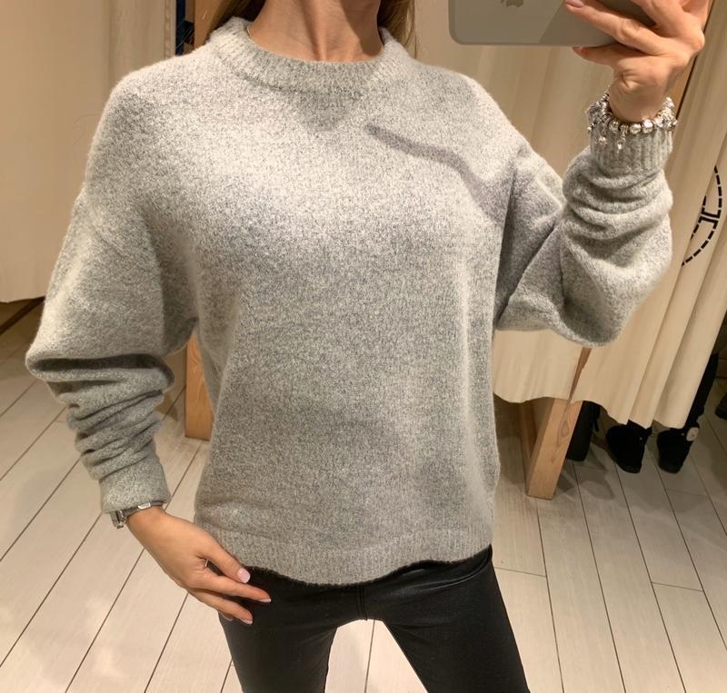 Обьемный серый свитер house есть размеры