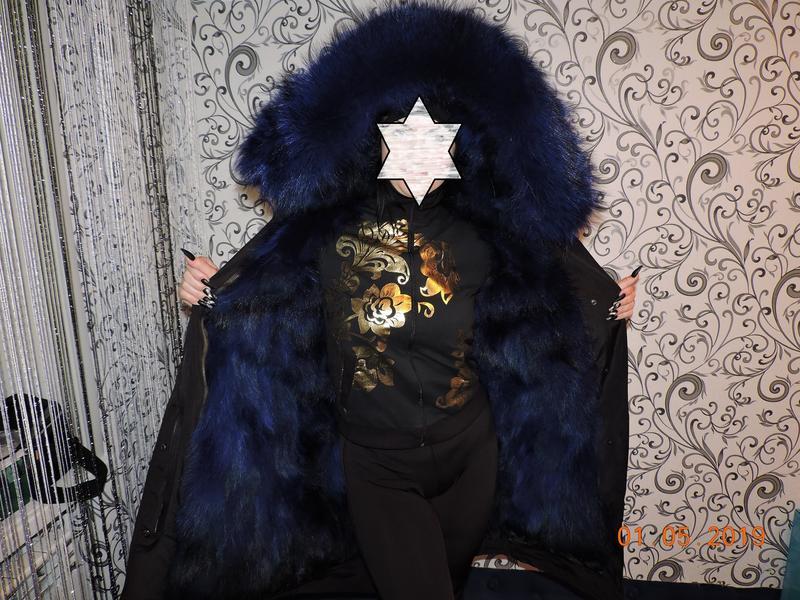 Куртка Парка из натурального Меха,Мех енота,Лисий Мех мех большо - Фото 2