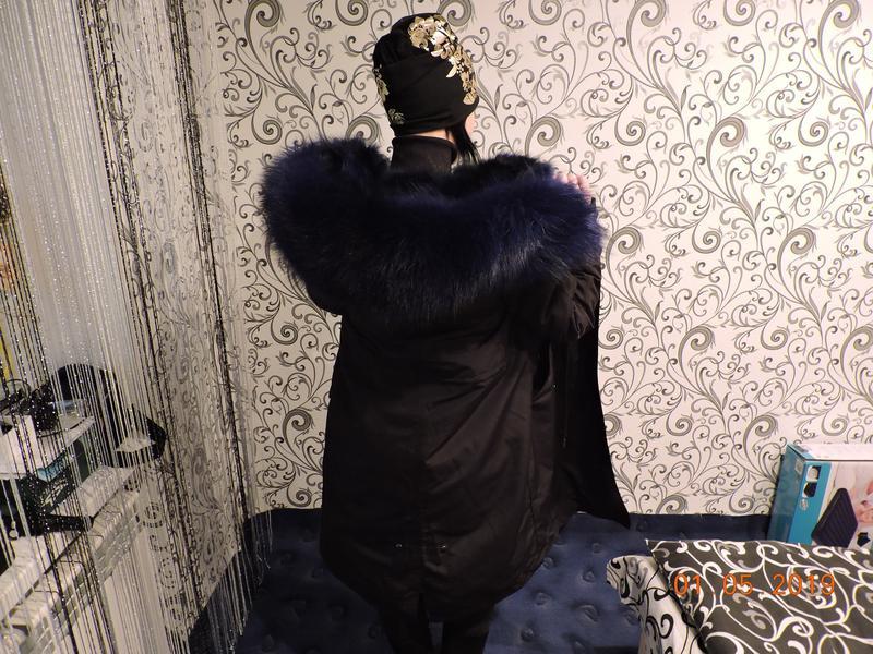 Куртка Парка из натурального Меха,Мех енота,Лисий Мех мех большо - Фото 4