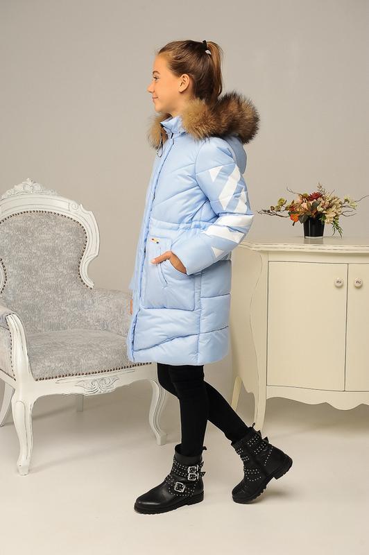 Размер 36-44 Стильный зимний пуховик на девочку - Фото 3