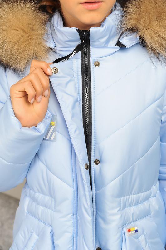 Размер 36-44 Стильный зимний пуховик на девочку - Фото 14
