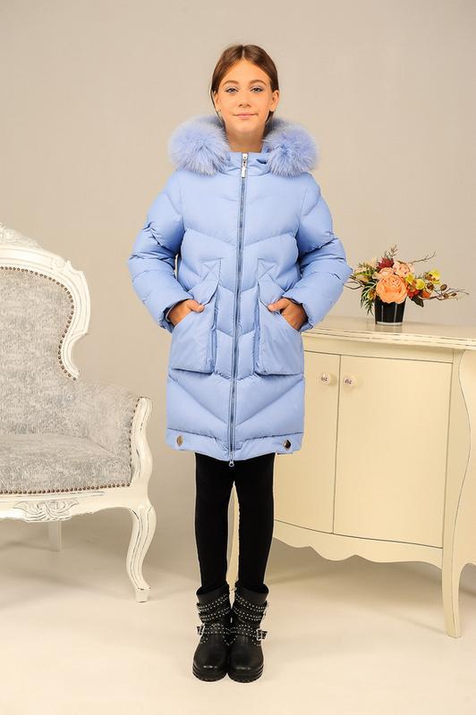 Размер 36-46 Стильный зимний пуховик на девочку - Фото 4