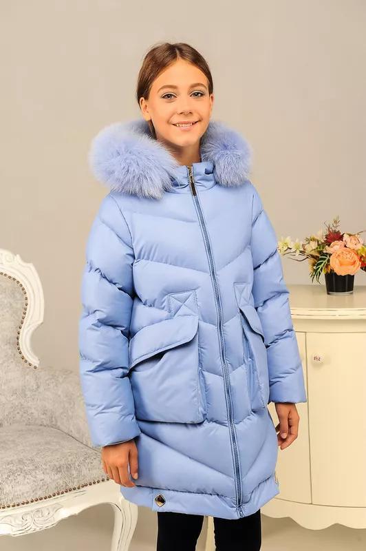 Размер 36-46 Стильный зимний пуховик на девочку - Фото 3