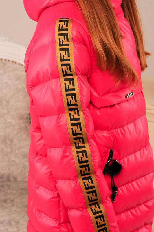 Размер 36-44 Стильный зимний пуховик на девочку - Фото 9