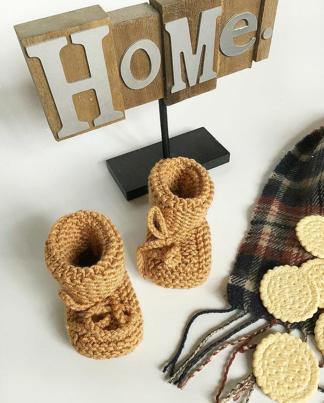 Обалденные теплые карамельные пинетки hand made (ручная работа!) - Фото 2