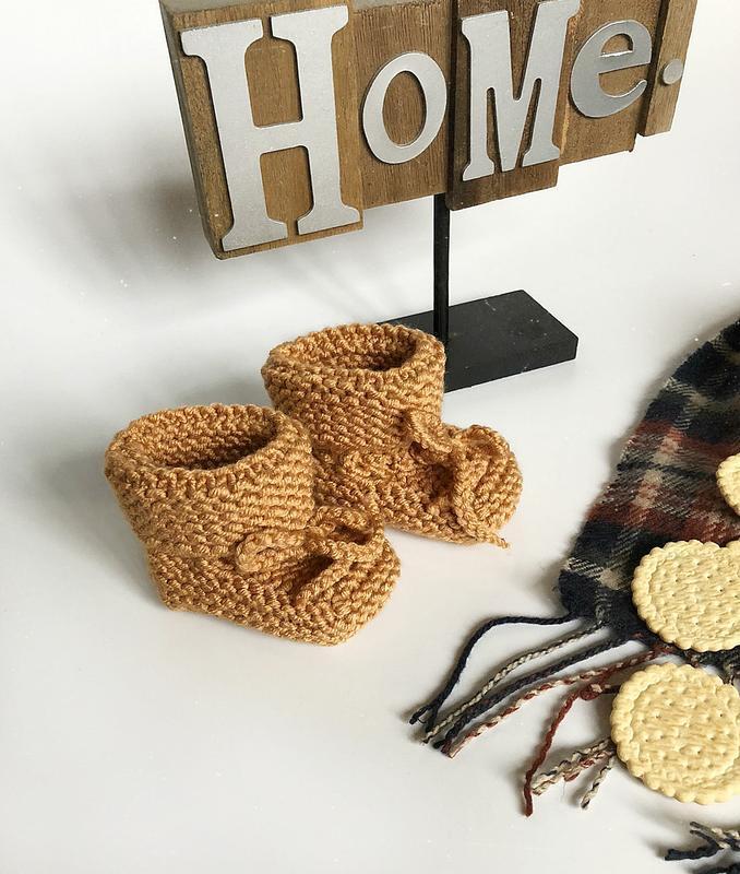 Обалденные теплые карамельные пинетки hand made (ручная работа!) - Фото 3