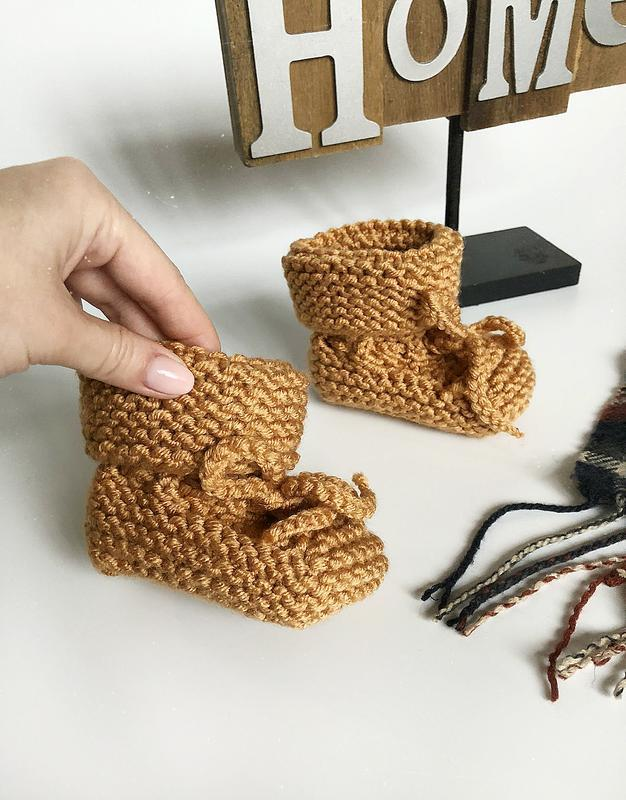 Обалденные теплые карамельные пинетки hand made (ручная работа!) - Фото 4