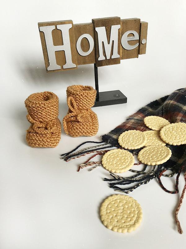 Обалденные теплые карамельные пинетки hand made (ручная работа!) - Фото 5