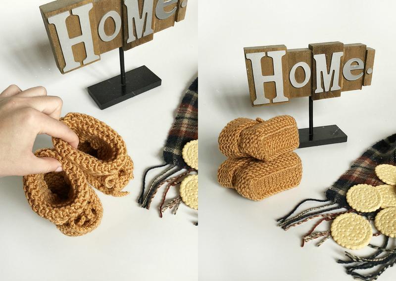 Обалденные теплые карамельные пинетки hand made (ручная работа!) - Фото 8