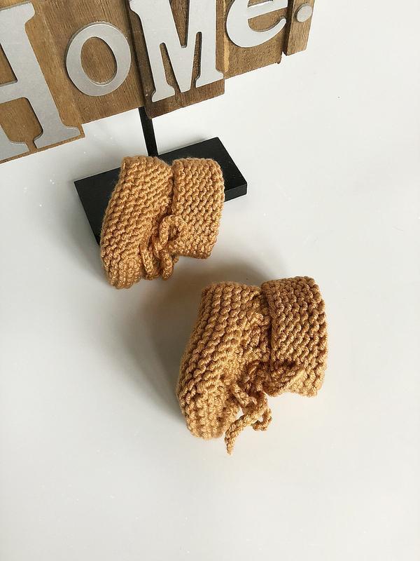 Обалденные теплые карамельные пинетки hand made (ручная работа!) - Фото 9