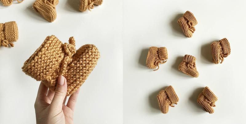 Обалденные теплые карамельные пинетки hand made (ручная работа!) - Фото 10