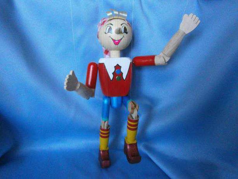 Деревянная кукла-марионетка «Буратино» - Фото 2