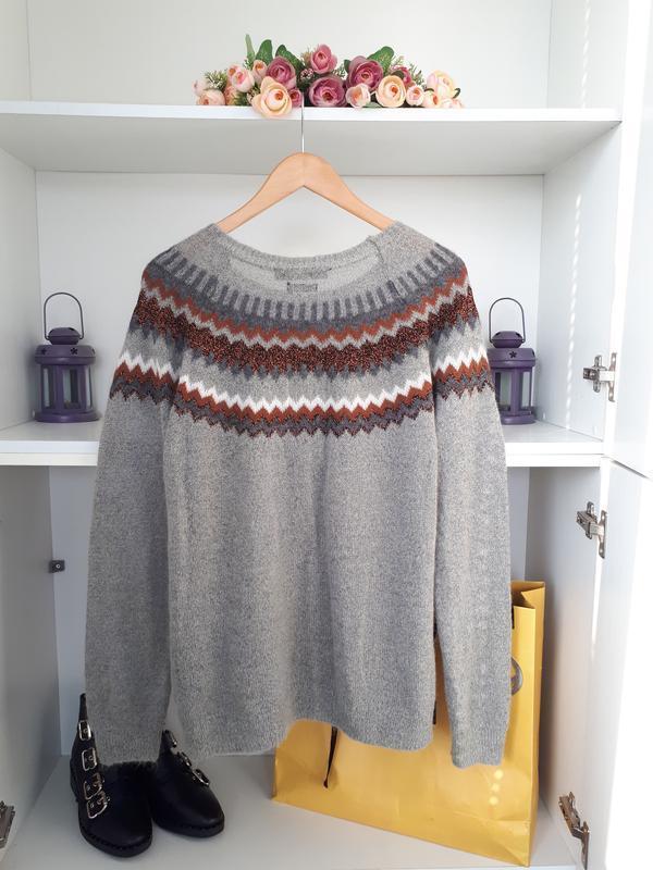 Мягкий и теплый свитер  с мохером hallhuber - Фото 6