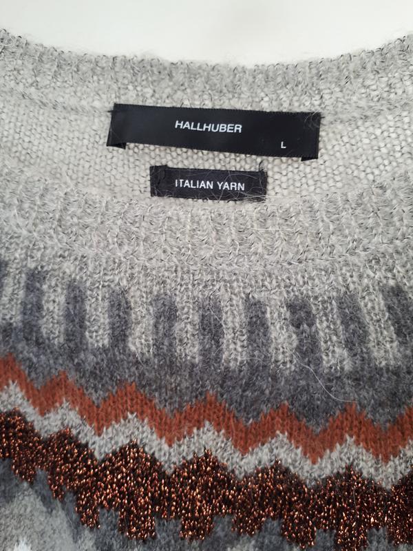 Мягкий и теплый свитер  с мохером hallhuber - Фото 8