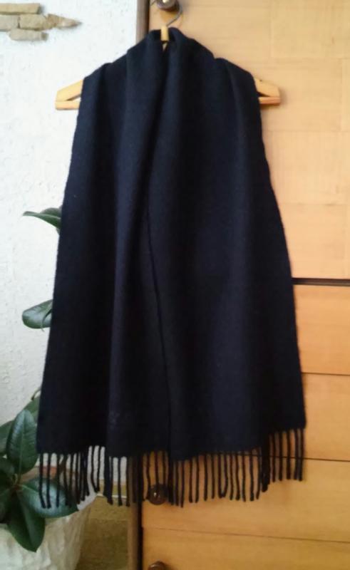Теплый шерстяной шарф унисекс, глубокий синий цвет, португалия
