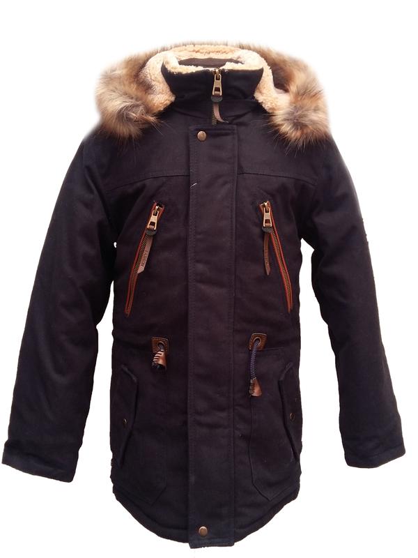 Размер 40-44 куртка-парка зимняя с капюшоном на мальчика