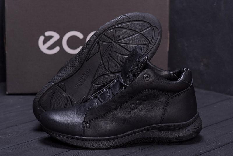 Кожаные мужские зимние ботинки шкіряні зимові чоловічі черевик... - Фото 2