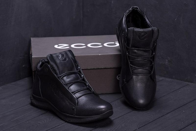 Кожаные мужские зимние ботинки шкіряні зимові чоловічі черевик... - Фото 3
