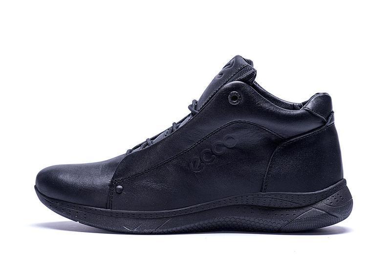 Кожаные мужские зимние ботинки шкіряні зимові чоловічі черевик... - Фото 5