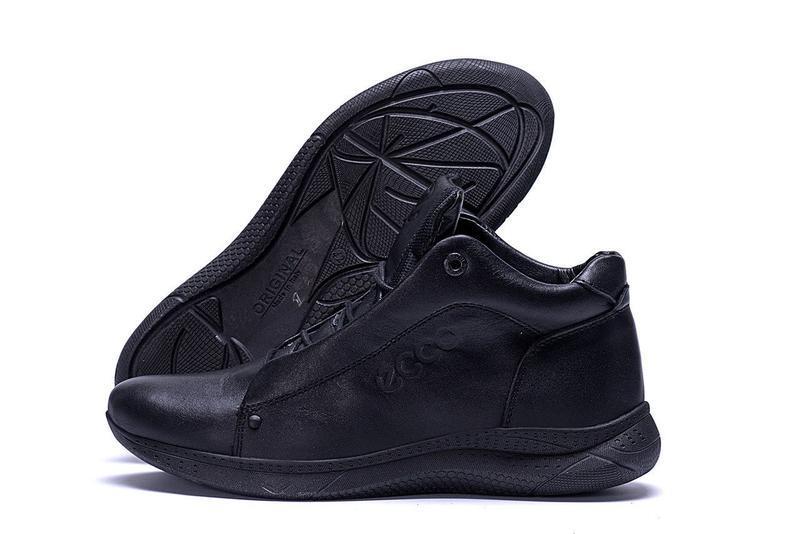 Кожаные мужские зимние ботинки шкіряні зимові чоловічі черевик... - Фото 6