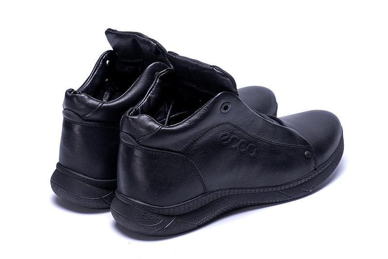 Кожаные мужские зимние ботинки шкіряні зимові чоловічі черевик... - Фото 7