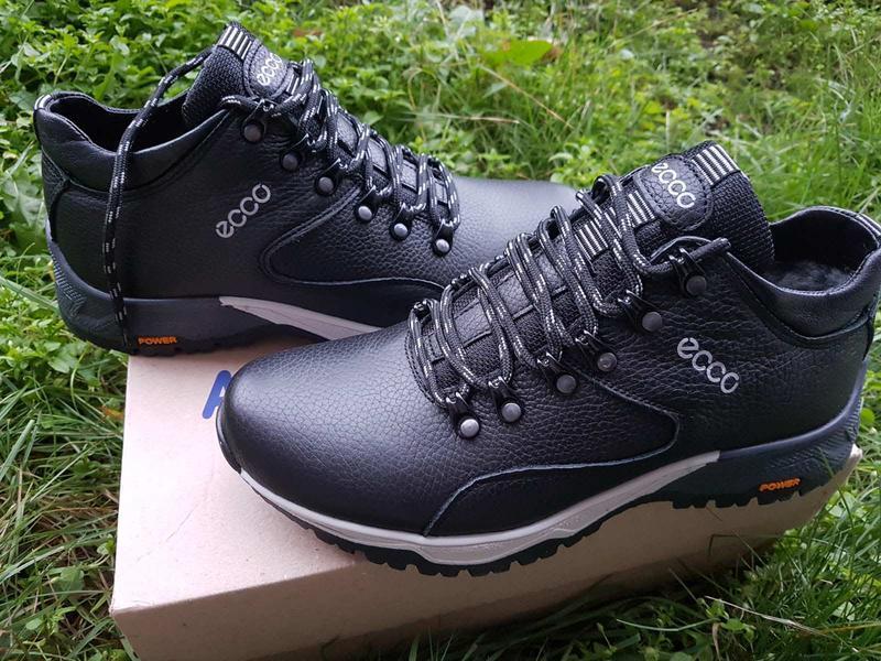 Кожаные мужские зимние ботинки зимові чоловічі шкіряні черевик... - Фото 2