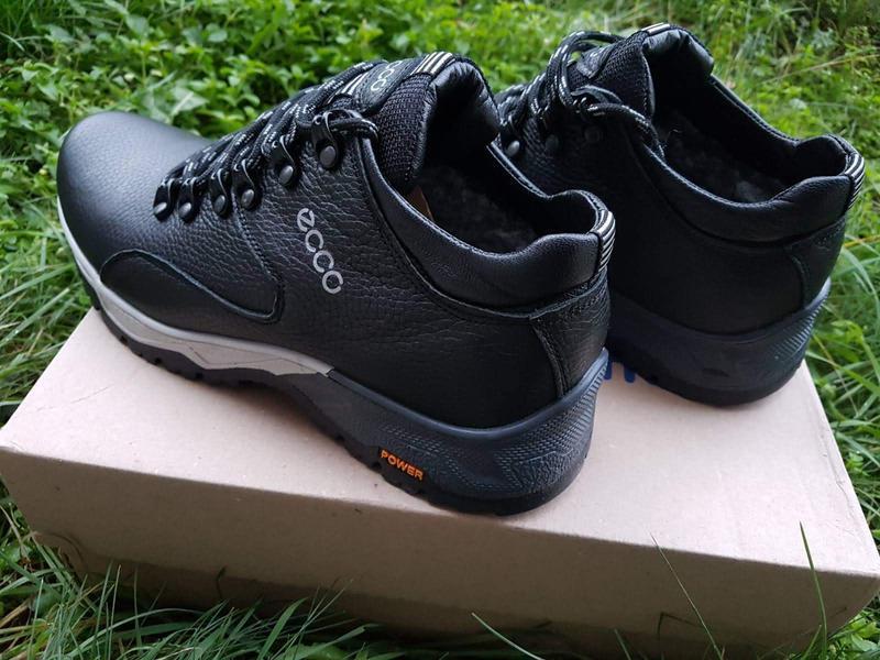 Кожаные мужские зимние ботинки зимові чоловічі шкіряні черевик... - Фото 7