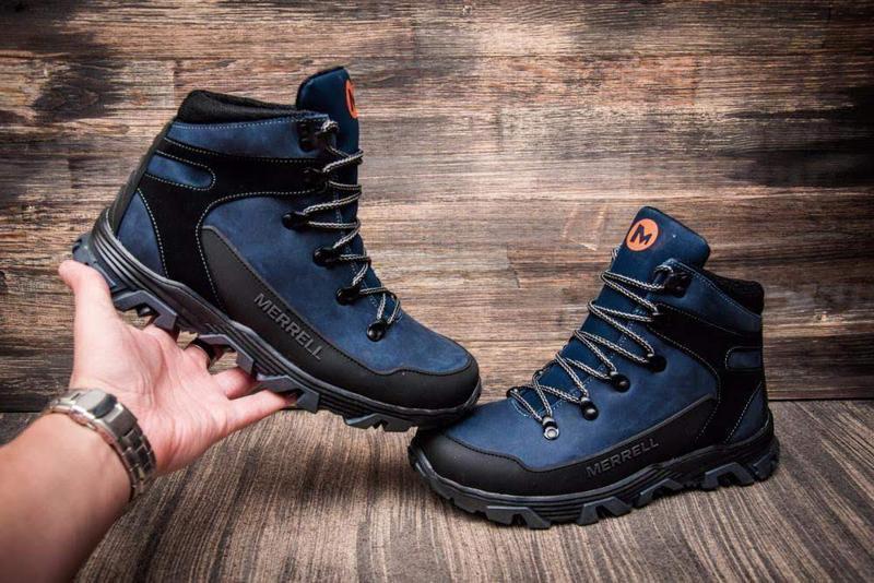 Кожаные зимние ботинки с прорезиненным носком и пяткой шкіряні... - Фото 2