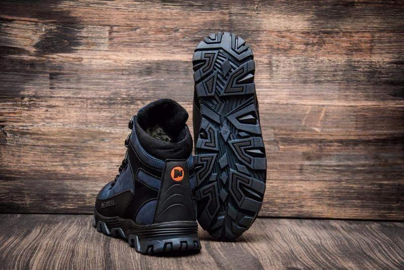 Кожаные зимние ботинки с прорезиненным носком и пяткой шкіряні... - Фото 3