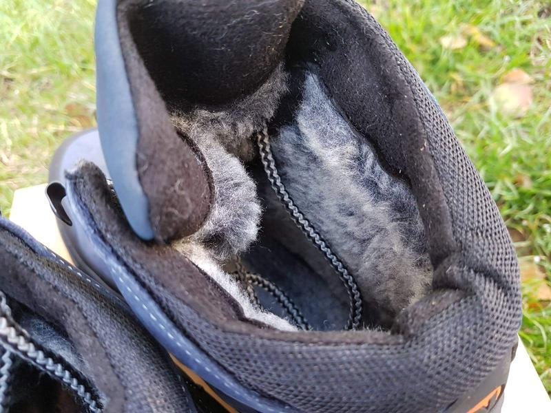 Кожаные зимние ботинки с прорезиненным носком и пяткой шкіряні... - Фото 5