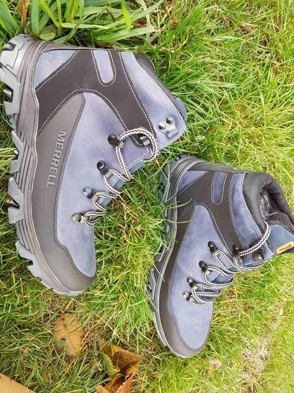 Кожаные зимние ботинки с прорезиненным носком и пяткой шкіряні... - Фото 7