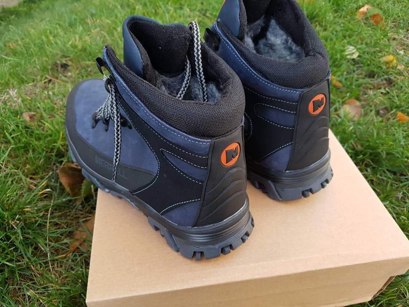 Кожаные зимние ботинки с прорезиненным носком и пяткой шкіряні... - Фото 8